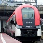 Poznań Główny | EN76-027 jako pociąg Kolei Wielkopolskich do Konina.