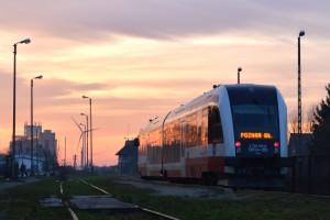 SA134-010 jako pociąg Kolei Wielkopolskich relacji Gołańcz- Poznań Główny